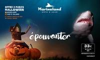 Billet enfant ou adulte, combinant des entrées à Marineland et Kids Island (spécial Halloween) à 33 €