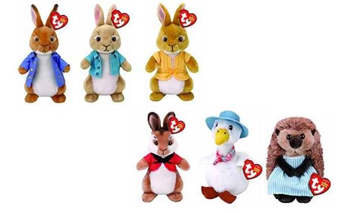 116ef4518be TY Six Peter Rabbit Beanie Babies