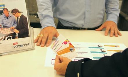 Ontwerp je eigen visitekaartjes en laat deze enkelzijdig of dubbelzijdig afdrukken bij Copy&Print van Staples