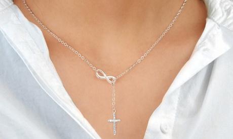 1 o 2 collares Infinity con cristales Swarovski®
