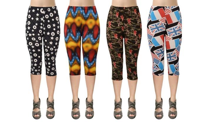 25e4cb884d7 Women s Printed Capri Leggings