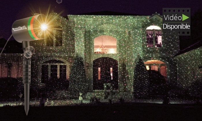 Projecteur led laser star shower groupon shopping for Laser exterieur noel