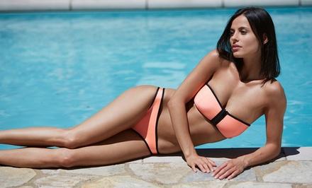 Women's Neoprene Strapless Bandeau Bikini