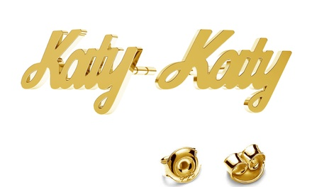 Up to 95% Off Personalized Name Earrings from Jewellshouse