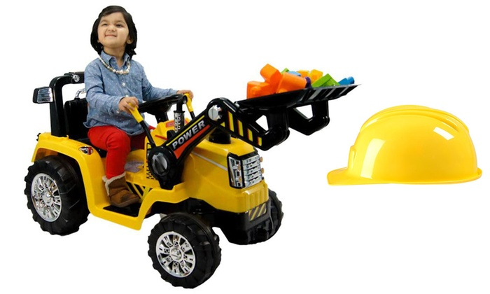 tractor kids ride on vehicle with construction helmet tractor kids ride