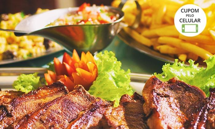 Rodízio com carnes, massas e pratos quentes para 1, 2 ou 4 pessoas na Churrascaria Marumbi – Cajuru