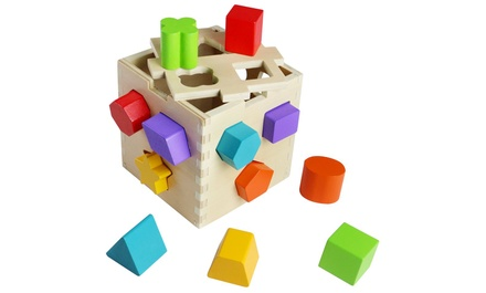 Wooden Shape-Sorting Toy Box
