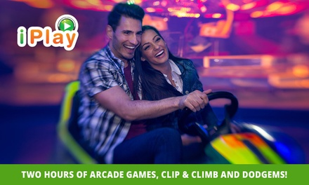 2Hr Arcade Games, Clip & Climb and Dodgems: 1 $15, 2 $30 or 6 $90 at iPlay Australia Carousel Up to $210