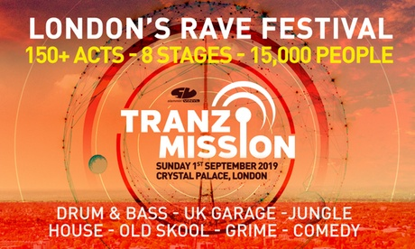 Tranzmission Festival 2019, 1 September at Crystal Palace Park (Up to 31% Off)