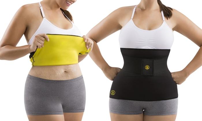 women's plus size sauna wrap with waist trainer belt | groupon
