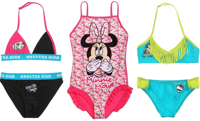 Girls' Character Swimwear in Choice of Design, Colour and Size for £3.49 (77% Off)