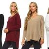 Women's V-Neck Knit Sweater