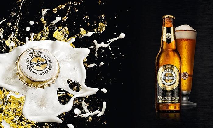 Warsteiner - Múltiples sucursales: Desde $153 en vez de $225 por 6, 12 o 24 botellas, latas o porrones de cerveza Warsteiner para retirar en sucursal