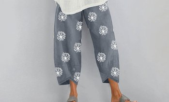 Women's Loose Dandelion Print Pants