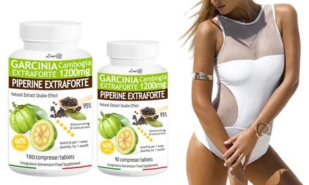 Jusquà 6 mois de traitement minceur Garcinia & Pipérine Extra Forte, double action Lineadiet