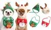 Christmas Pet Hat with Bandana Set