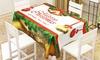 Kersttafelkleed van microfiber