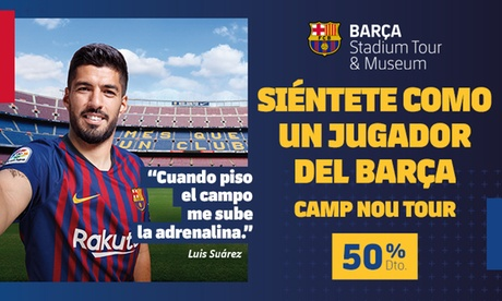 Paga 1,95 € por un descuento del 50% en la entrada al Barça Stadium Tour & Museum