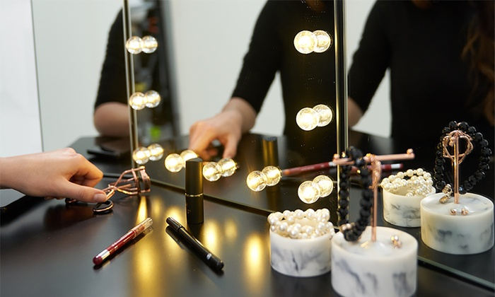 Miroir De Coiffeuse A 3 Faces Led Groupon