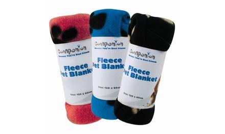 1x, 2x oder 3x Fleecedecke für Tiere in Schwarz, Rot oder Blau (bis zu 86% sparen*)