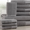 Elegance Spa 100% Cotton 600 GSM Jacquard Towel Set (10-Piece)