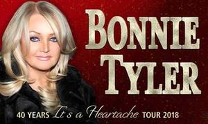 """Concertbüro Oliver Forster: 2x """"Bonnie Tyler – 40 Years It's A Heartache Tour 2018"""" im März und April 2018 in Düsseldorf und Lübeck (45% sparen)"""