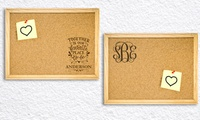 Custom Cork Memo Boards from Monogram Online (Up to 78% Off)