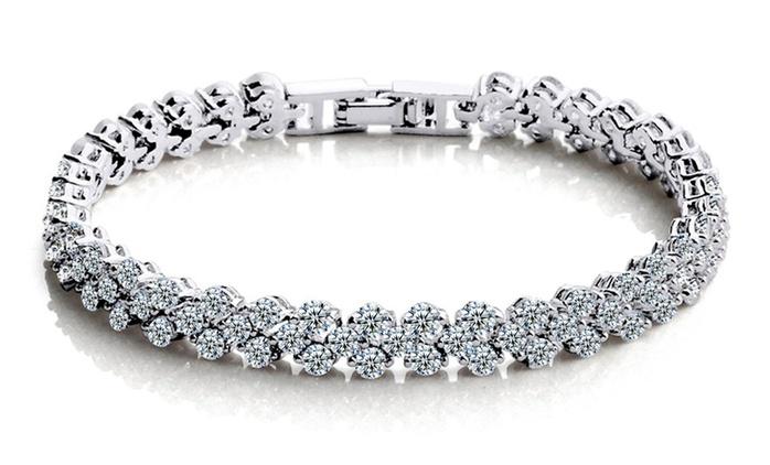 1 ou 2 bracelets 10K en or rempli , orné de 99 cristaux 7 carats dès 29.98€ (jusqu'à 94% de réduction)