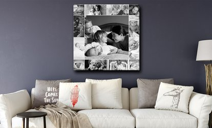 Personalised Single Image or Collage Canvas from Grange Print (Up to 93% Off)