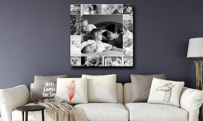 Personalised Single Image or Collage Canvas from Grange Print