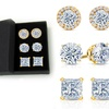 7.00 CTTW Stud Earrings Set Made with Swarovski Crystals (3-Pack)