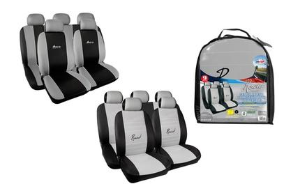 Coprisedili auto e copripoggiatesta disponibili in 2 set