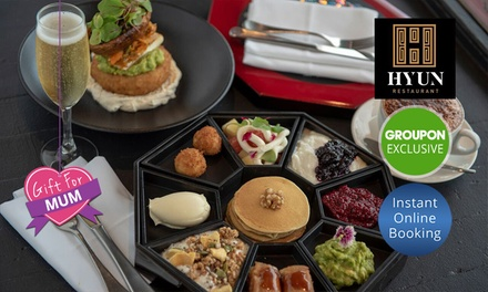 Fine Dining French Korean Brekky + Bubbly or Coffee for 2 ($39), 4 ($75) or 6 Ppl ($110) at Restaurant Hyun (Up to $210)
