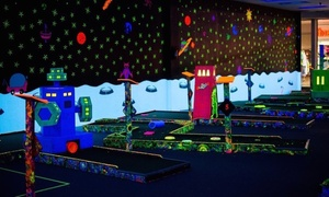 Galaxy Glow Mini Golf: Glow-in-the-Dark Mini Golf for Two or Four at Galaxy Glow Mini Golf (Up to 52% Off). Four Options Available.