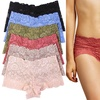 Women's Floral Lace Sheer Boyshorts (6-Pack)