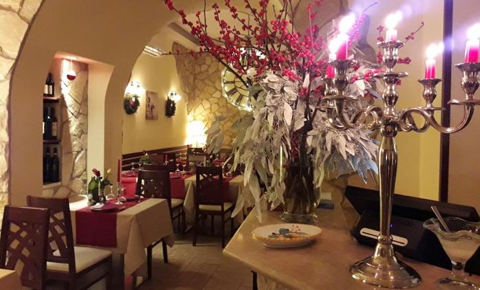 Cena di coppia di 4 portate e vino, nel romantico Ristorante Diadema nel cuore di Monti (sconto del 67%)