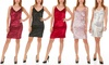 Holiday Party Seranoma Women's Sleeveless V-Neck Bodycon Dress