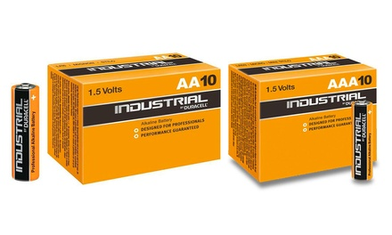 10, 20 or 40 Duracell Industrial R03 AAA or R06 AA Alkaline Batteries