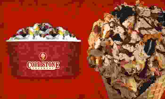 Cold Stone Creamery - Hiram: $5 for Two Like It-Size Create-Your-Own Treats with a Mix-In at Cold Stone Creamery ($9 Value)