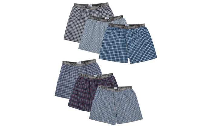 2097d0588504 Up To 64% Off on Life Men's Boxer Shorts (6-Pack) | Groupon Goods