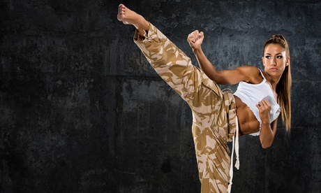 $45 for One Month of Unlimited Kickboxing Classes at American Warrior Karate ($95 Value) 0737aca8-4f0a-4d13-a069-e288a4203bba
