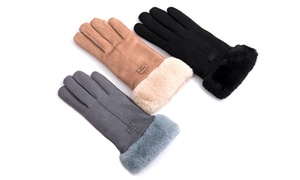 AK Collection Women's Sherpa-Lined Gloves