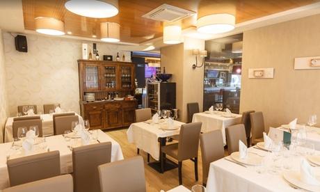 Menú gourmet para 2 con entrantes, principal, postre y bebida o botella de vino desde 44,95 € en Evoque Restaurante