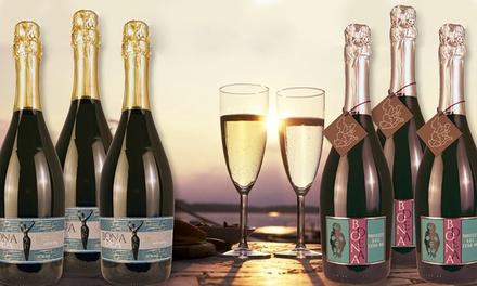 3 bottiglie di Gran Cuvée Spumante Extra Dry e 3 bottiglie di Prosecco DOC Treviso Extra Dry con spedizione gratuita