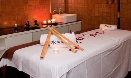 Acceso a spa y/o masaje con opción a jacuzzi y tumbonas con cava y bombones para dos personas desde 44,90 € en Nou Issui