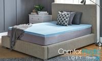 Groupon.com deals on BeautyRest ComforPedic Loft 2-in Gel Memory Mattress Topper Twin