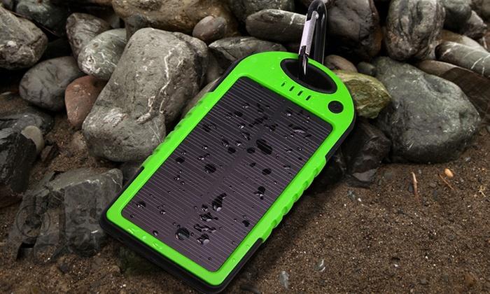 5 000mah Solar Phone Charger Groupon Goods