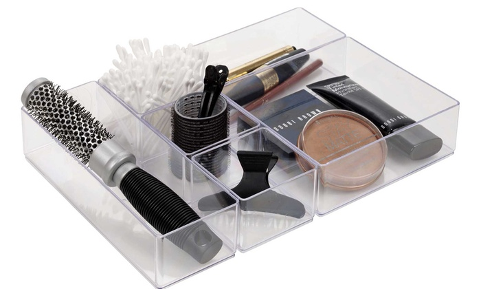 Up To 17% Off 6-Piece Acrylic Drawer Organisers | Groupon Organisers on