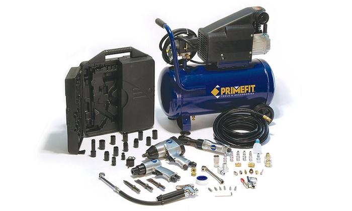 60 Off On Primefit Air Compressor Kit Groupon Goods