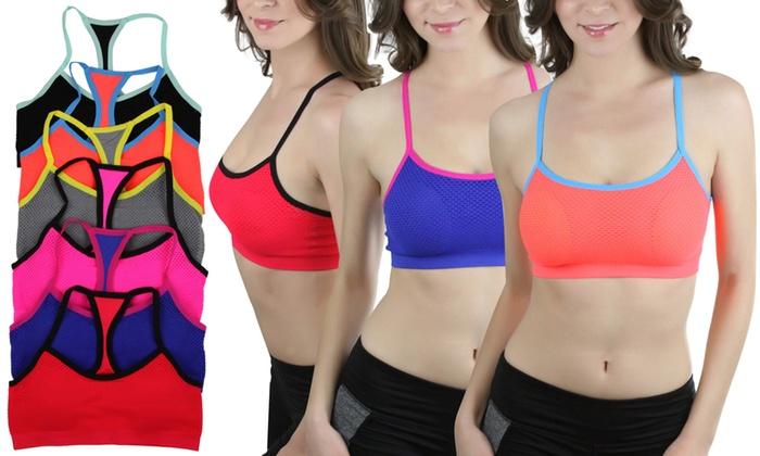 Women's Y-Back Sports Bras (6-Pack)